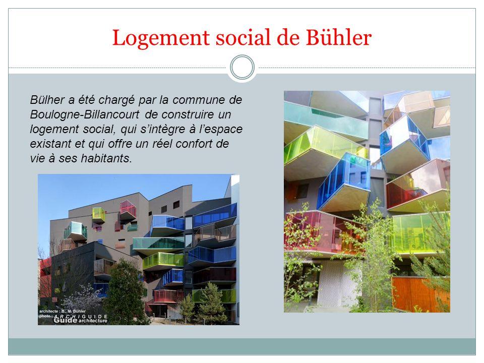 Logement social de Bühler Bülher a été chargé par la commune de Boulogne-Billancourt de construire un logement social, qui sintègre à lespace existant et qui offre un réel confort de vie à ses habitants.