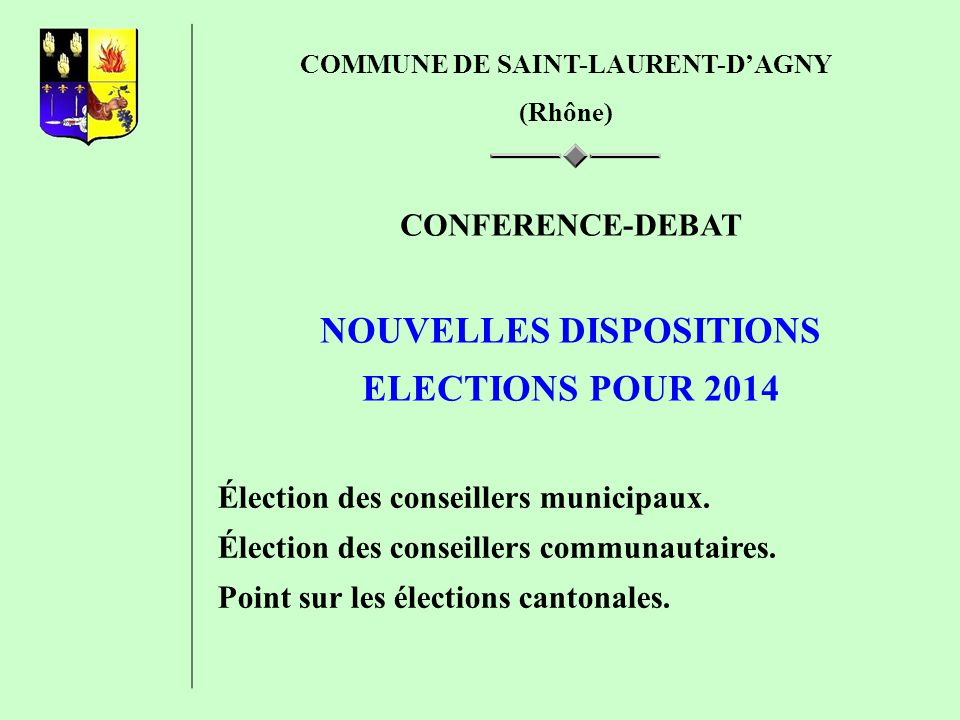 ELUS CM/19 C DE C/3 ABListe AListe BListe AListe B 50.01%49.99%15421 60%40%16321 70%30%17230 80%20%18130 90%10%19030 Exemple : Résultats élections à Saint-Laurent-dAgny