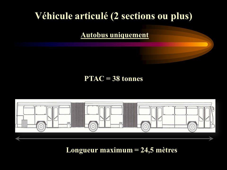 Véhicule articulé (2 sections ou plus) Autobus uniquement Autobus uniquement Véhicule articulé (2 sections ou plus) Autobus uniquement Autobus uniquem