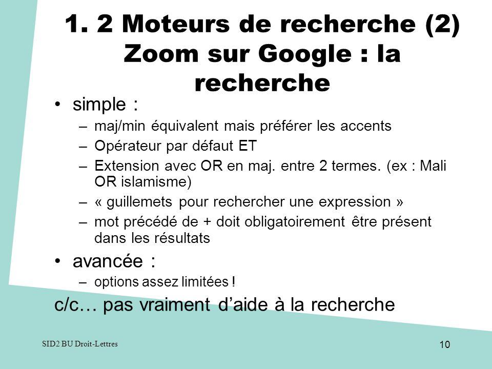 SID2 BU Droit-Lettres 10 1.