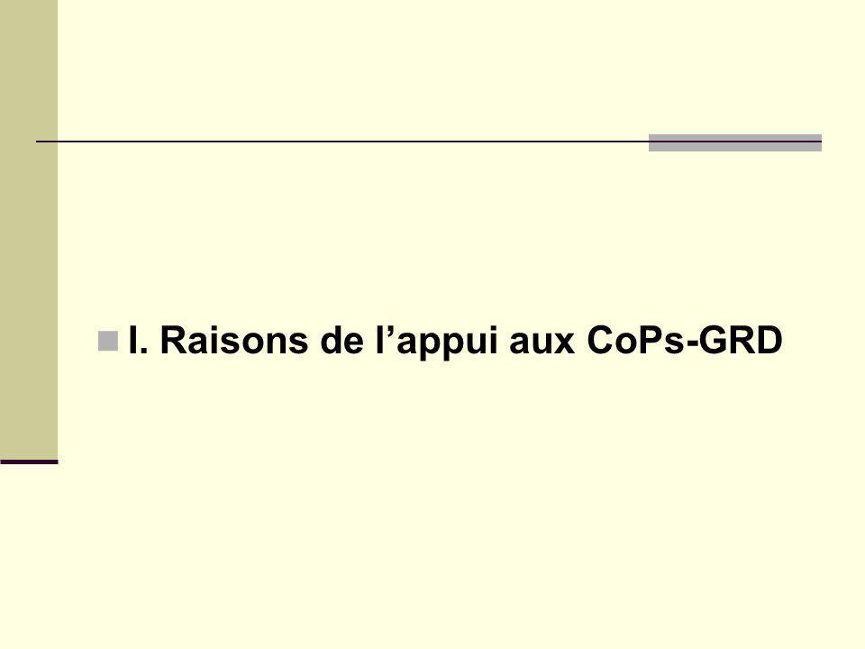 I. Raisons de lappui aux CoPs-GRD