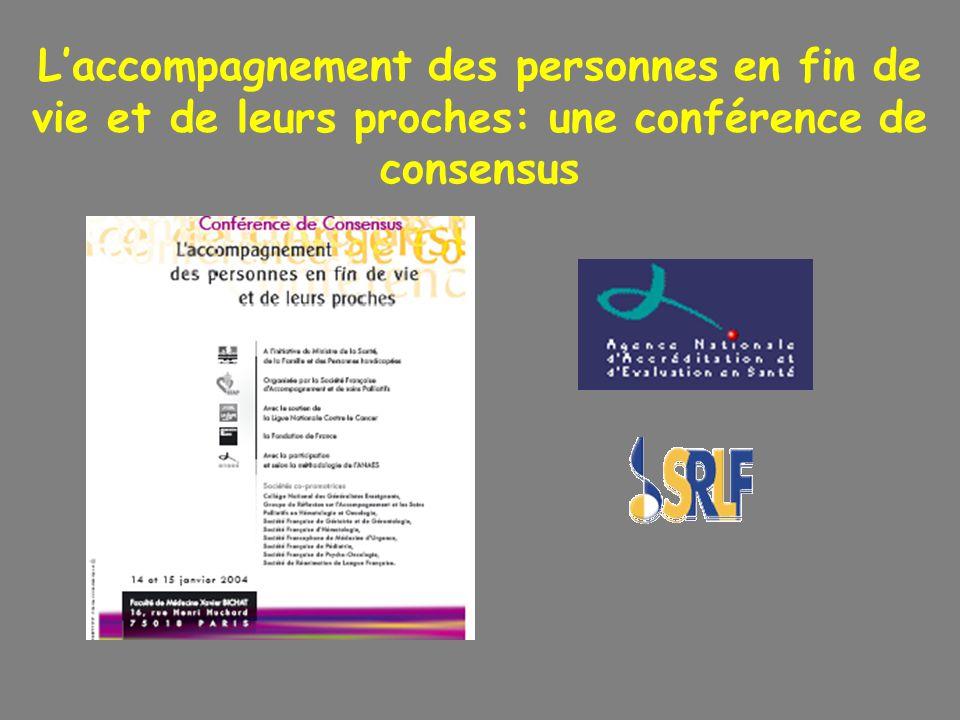 Laccompagnement des personnes en fin de vie et de leurs proches: une conférence de consensus