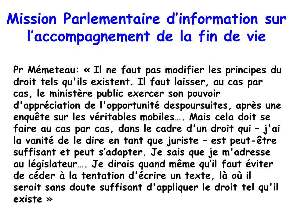 Pr Mémeteau: « Il ne faut pas modifier les principes du droit tels qu'ils existent. Il faut laisser, au cas par cas, le ministère public exercer son p