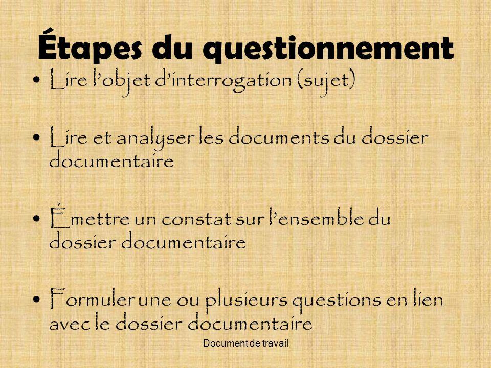Document de travail Pouvoir et pouvoirs, aujourdhui, au Québec
