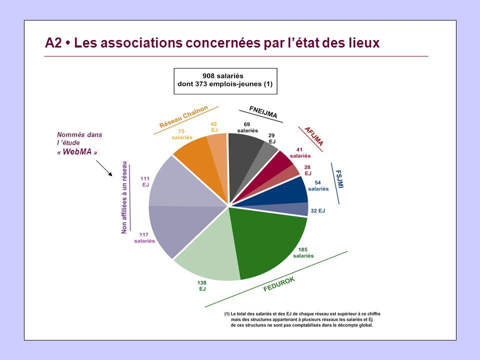 A2 Les associations concernées par létat des lieux Nommés dans l étude « WebMA »