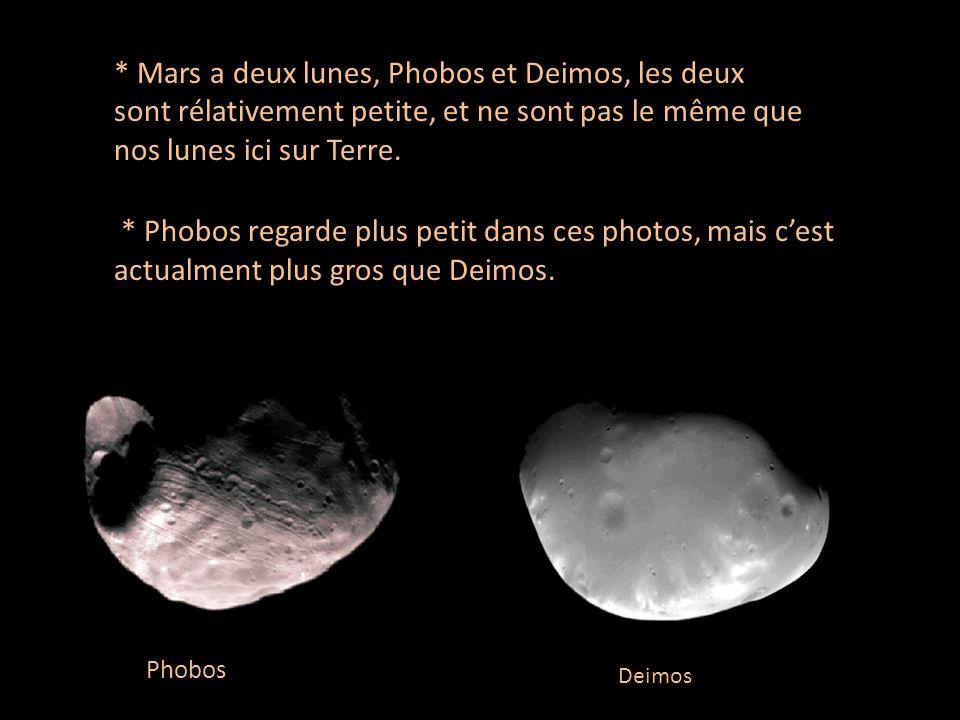 * Les scientifiques disent que Mars est le deuxième plus vivant planète dans nos système solaire, mais Mars est trops froid, et latmosphere est trops mince pour que leau circule la surface de la planète.