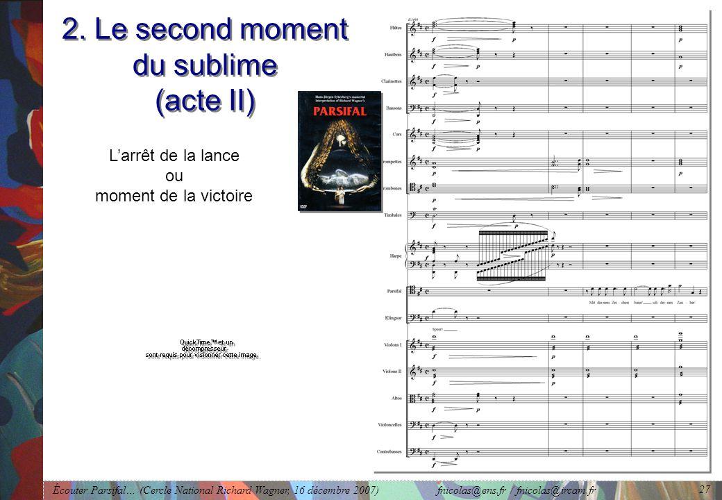 Écouter Parsifal… (Cercle National Richard Wagner, 16 décembre 2007) fnicolas@ens.fr / fnicolas@ircam.fr 27 2.