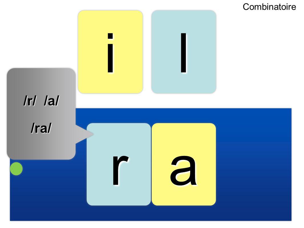 aa ii rr ll Combinatoire /r/ /a/ /ra/ /ra/