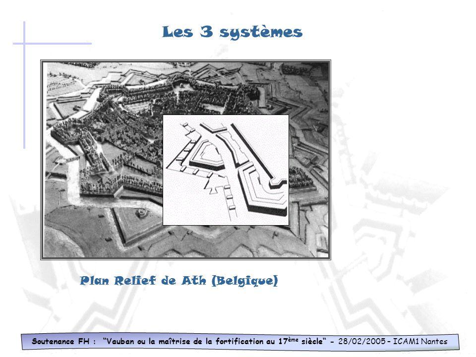 meurtrières poudrière couloir Soutenance FH : Vauban ou la maîtrise de la fortification au 17 ème siècle - 28/02/2005 – ICAM1 Nantes Les 3 systèmes To