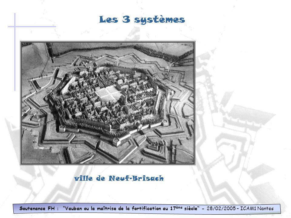 Soutenance FH : Vauban ou la maîtrise de la fortification au 17 ème siècle - 28/02/2005 – ICAM1 Nantes Les 3 systèmes 3 ème système Caractéristique: D