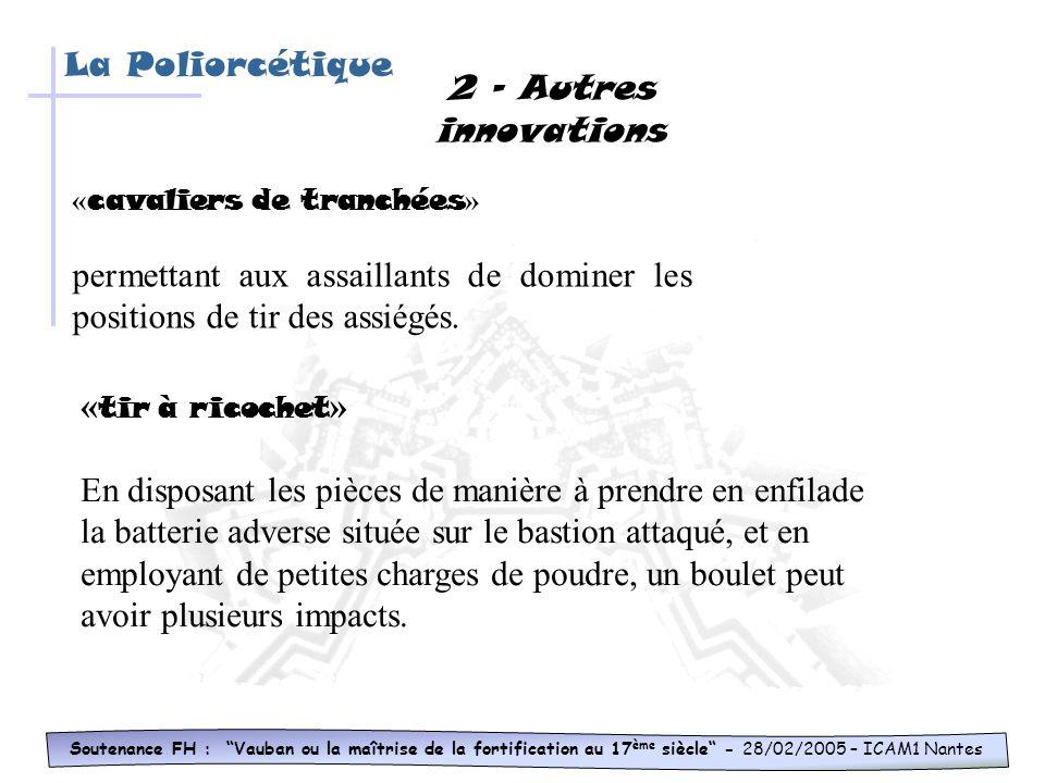Soutenance FH : Vauban ou la maîtrise de la fortification au 17 ème siècle - 28/02/2005 – ICAM1 Nantes La Poliorcétique 1-Les tranchées parallèles pre