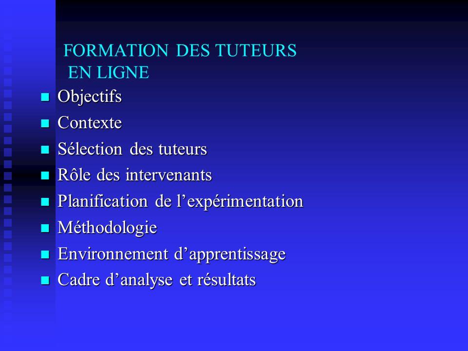 FORMATION DES TUTEURS EN LIGNE : Préalable à lamélioration de la réussite des élèves Martine Chomienne Cégep@distance.ca