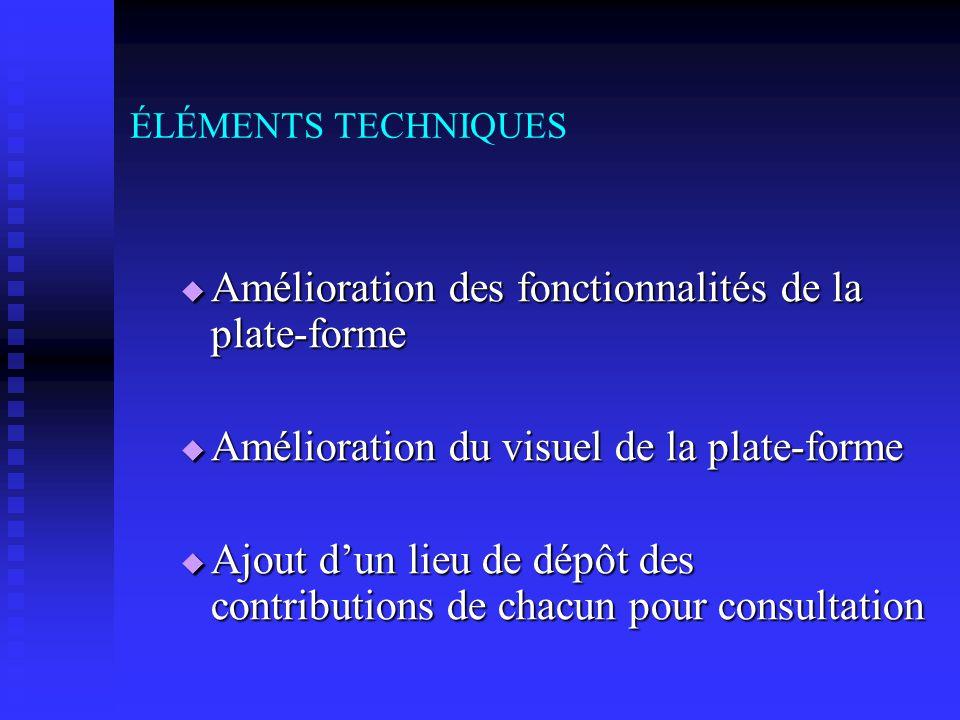 RECOMMANDATIONS Sur les éléments techniques Sur les éléments techniques Sur les éléments pédagogiques Sur les éléments pédagogiques Sur les éléments m