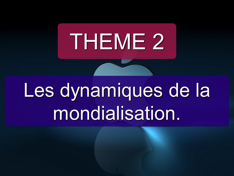 1 Les dynamiques de la mondialisation. THEME 2 1