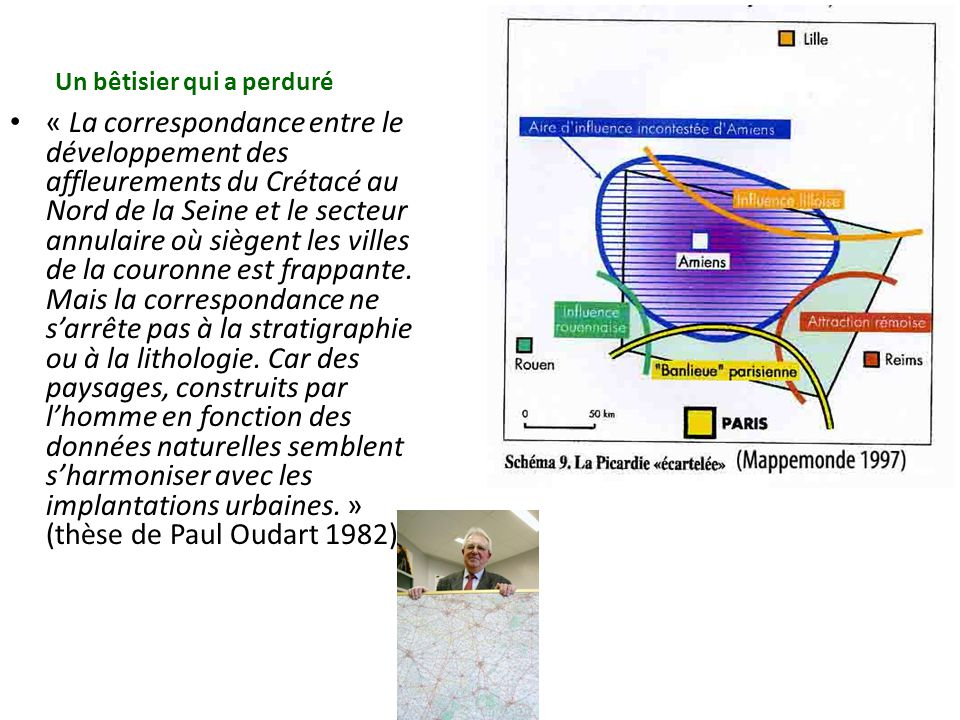 « La correspondance entre le développement des affleurements du Crétacé au Nord de la Seine et le secteur annulaire où siègent les villes de la couron