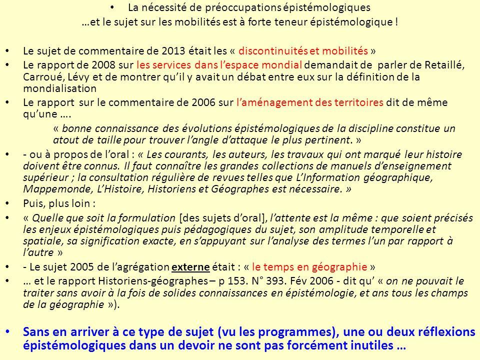 Une des bases du modèle spatial, la thématique « Continuité ou discontinuité » Brunet La rupture Le chorème Lahouari Kaddouri : réflexion sur la sémiologie graphique appliquée des flux.