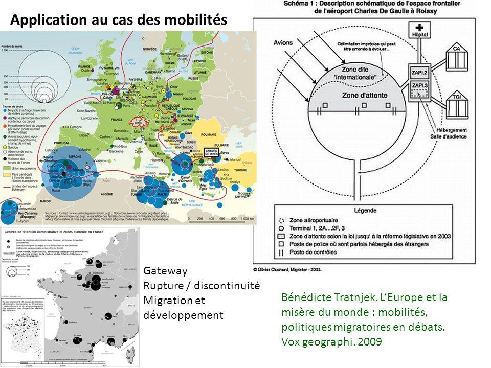 Application au cas des mobilités Bénédicte Tratnjek. LEurope et la misère du monde : mobilités, politiques migratoires en débats. Vox geographi. 2009