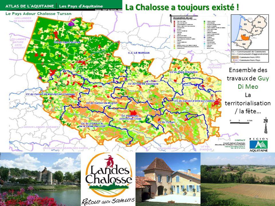 49 La Chalosse a toujours existé ! Ensemble des travaux de Guy Di Meo La territorialisation / la fête…