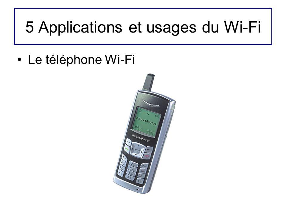 5 Applications et usages du Wi-Fi Le téléphone Wi-Fi