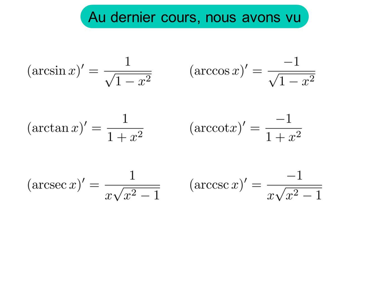 Exemple: Logarithme On définit comme linverse de lexposant. car Notation: