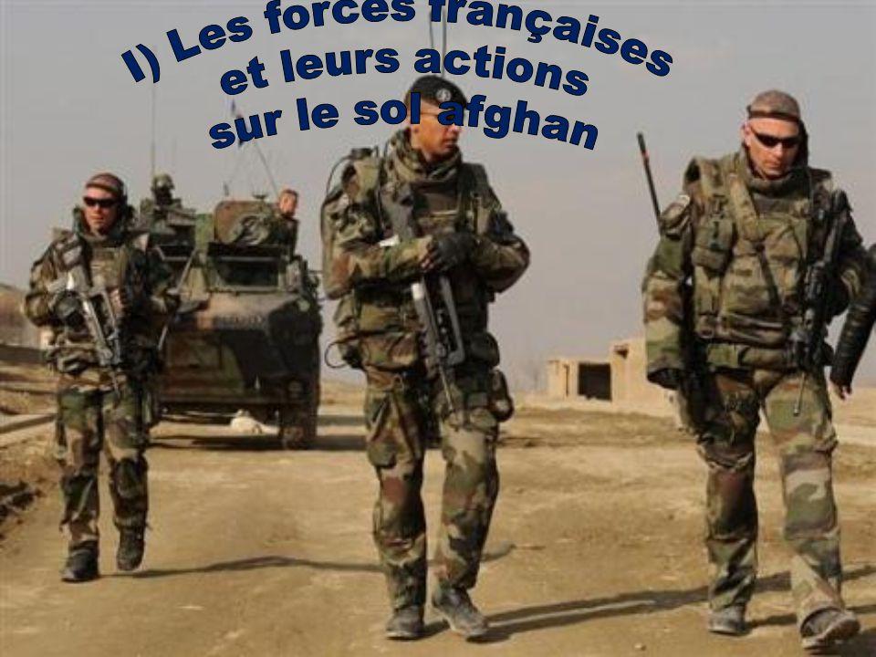 Présence armée Française depuis 2001 3850 militaires 150 Gendarmes Présences maritimes Hélicoptère Tigres Coût très élevé: 450 000 000 = la moitié du coup des opérations extérieurs (opex)