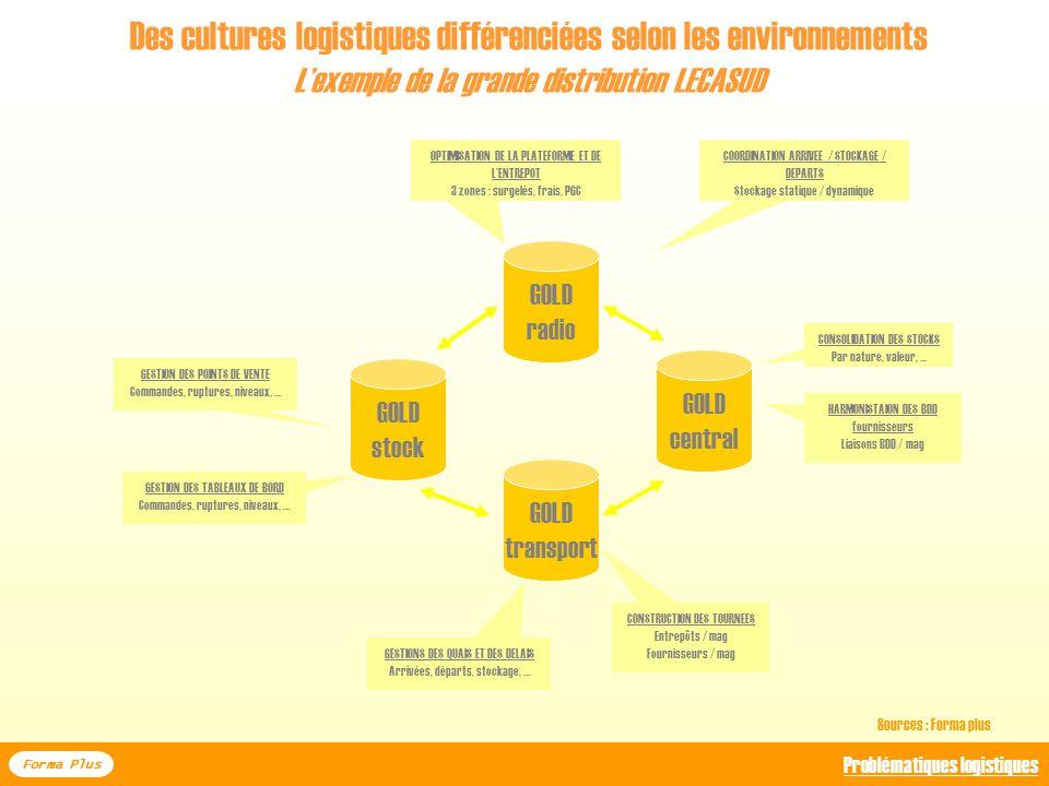 Des cultures logistiques différenciées selon les environnements Lexemple des ventes électronqiues chez les pures players Forma Plus Problématiques log