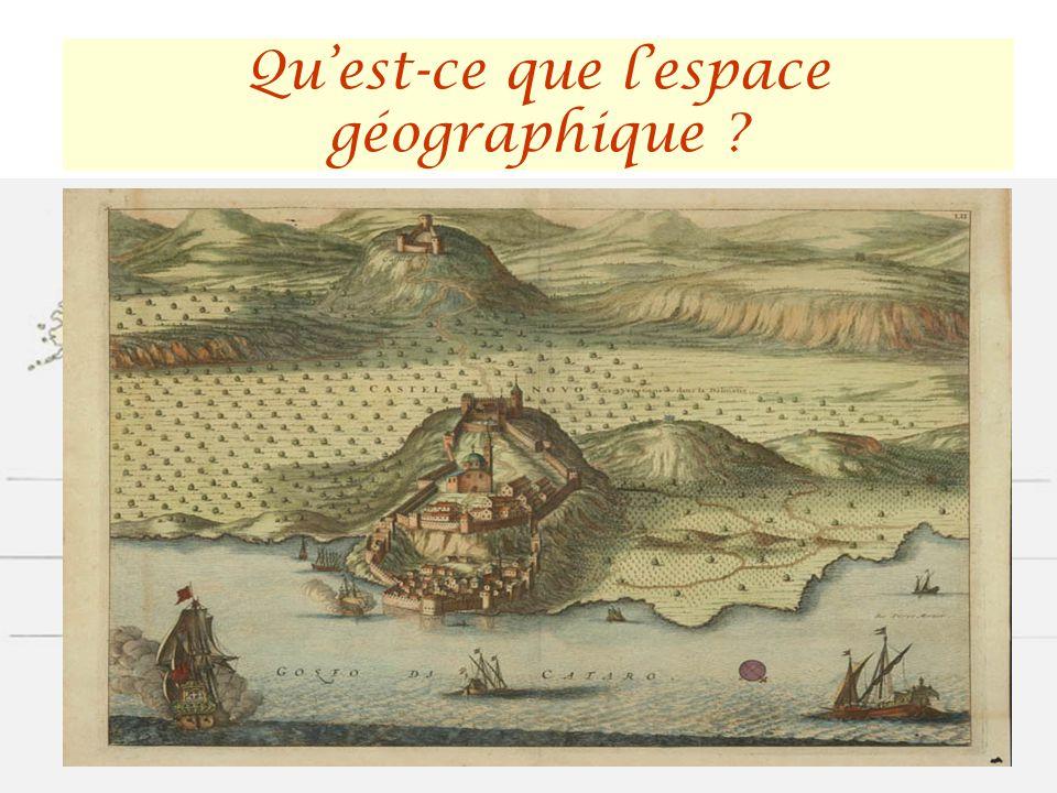 Cest un lieu ! La géographie sintéresse aux aspects spatiaux : - les connaissances de lespace - et les pratiques spatiales Quest-ce que lespace géogra