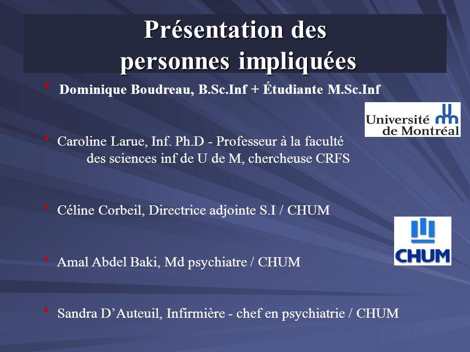 Dominique Boudreau, B.Sc.Inf + Étudiante M.Sc.Inf Caroline Larue, Inf. Ph.D - Professeur à la faculté des sciences inf de U de M, chercheuse CRFS Céli