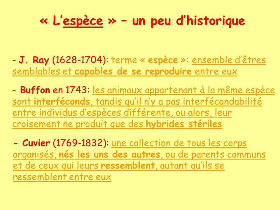 Le système binominal Karl von Linné (1717-1778) Systema Naturae percoit affinités définit ordre hiérarchisé invente notation binominale : Genre espèce Descripteur + problématique des sous-espèces, races, tribus,....