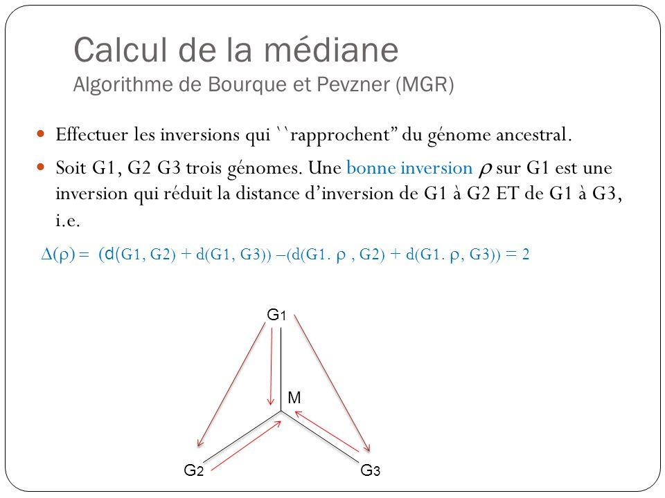 Effectuer les inversions qui ``rapprochent du génome ancestral.
