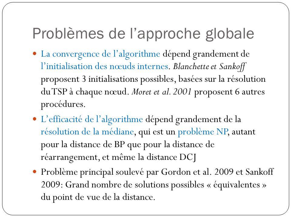 Problèmes de lapproche globale La convergence de lalgorithme dépend grandement de linitialisation des nœuds internes.