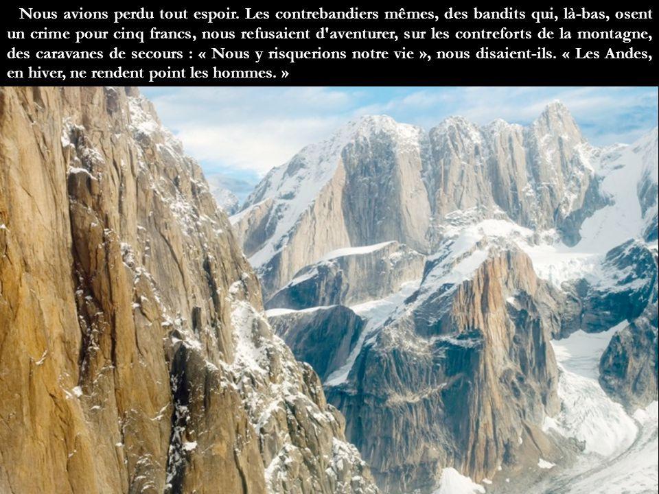 Je t'apporte ici, Guillaumet, le témoignage de mes souvenirs. Tu avais disparu depuis cinquante heures, en hiver, au cours d'une traversée des Andes.