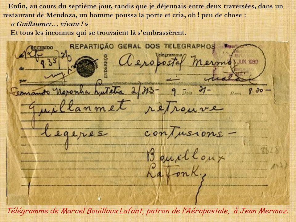 Lorsque Deley ou moi atterrissions à Santiago, les officiers chiliens, eux aussi, nous conseillaient de suspendre nos explorations. « C'est l'hiver. V