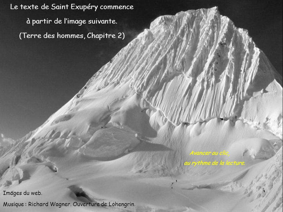 Le texte de Saint Exupéry commence à partir de limage suivante.