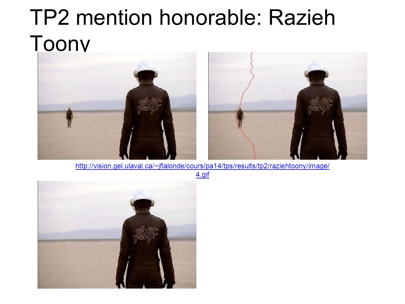 TP2 mention honorable: Razieh Toony