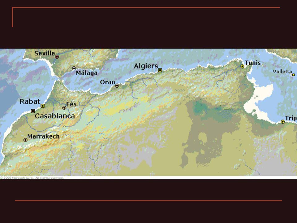 Une géographie de montagnes Dominé par la cordillère de lAtlas Atlas tellien Atlas saharien (en Algérie) Anti-Atlas (au Maroc) Hautes Plaines Le Rif (au Maroc) Kabylie (en Algérie)