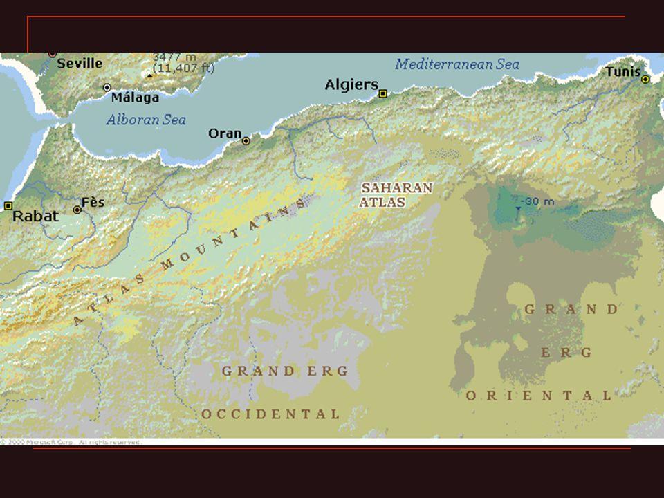 La déconfiture insurrections berbères à partir de 253 la Maurétanie abandonnée vers 300 429-439 conquête vandale royaumes berbères autonomes 533 (re)conquête byzantine (grecque) lourds impôts, oppression guerres endémiques avec les Berbères