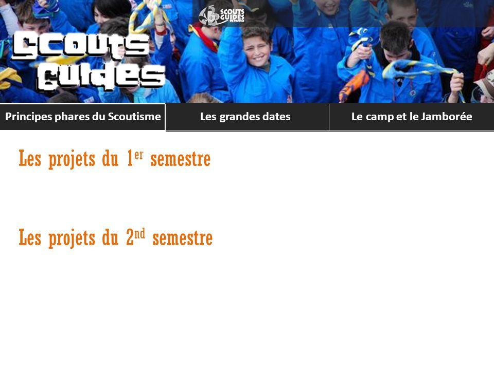 Le camp et le Jamborée LES GRANDES DATES Principes phares du Scoutisme Les grandes dates