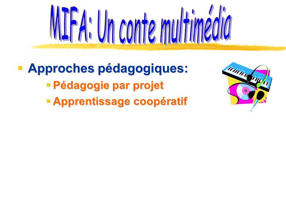 Approches pédagogiques: Approches pédagogiques: Pédagogie par projet Pédagogie par projet Apprentissage coopératif Apprentissage coopératif