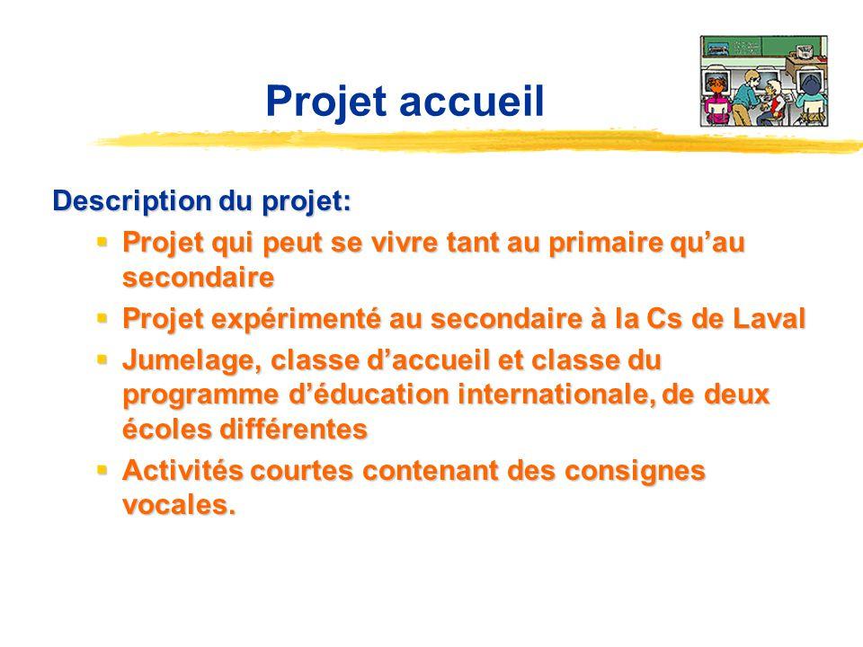 Description du projet: Projet qui peut se vivre tant au primaire quau secondaire Projet qui peut se vivre tant au primaire quau secondaire Projet expé