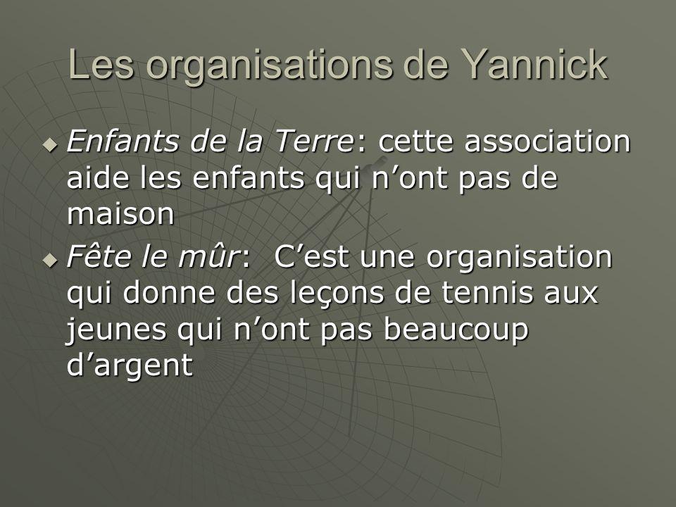 Les organisations de Yannick Enfants de la Terre: cette association aide les enfants qui nont pas de maison Enfants de la Terre: cette association aid