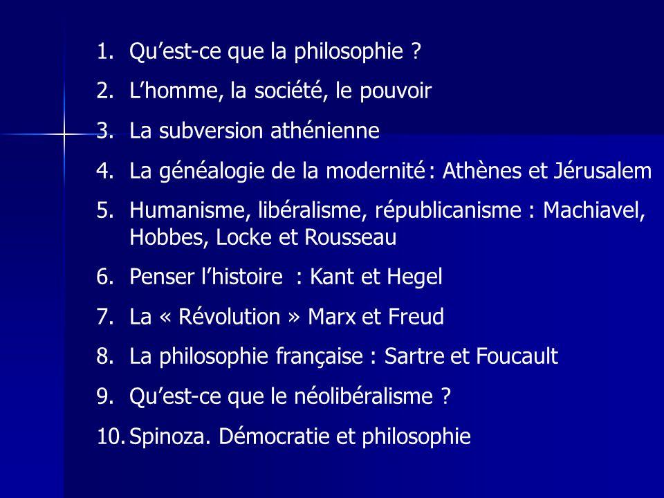 Le Prince primat du politique sur la religion: sortir du carcan théologico-politique « réponse » du libéralisme anglais la liberté négative « la révolution Machiavel »