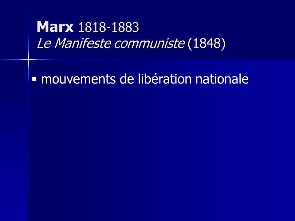 « Notre époque lépoque de la société bourgeoise se distingue des autres par un trait particulier : elle a simplifié les antagonismes de classes.