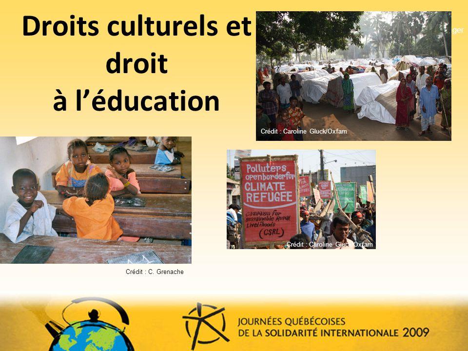 Droits culturels et droit à léducation Reuters?.