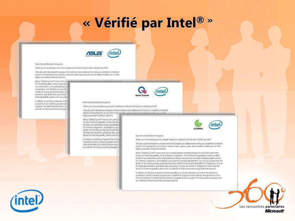 « Vérifié par Intel ® »