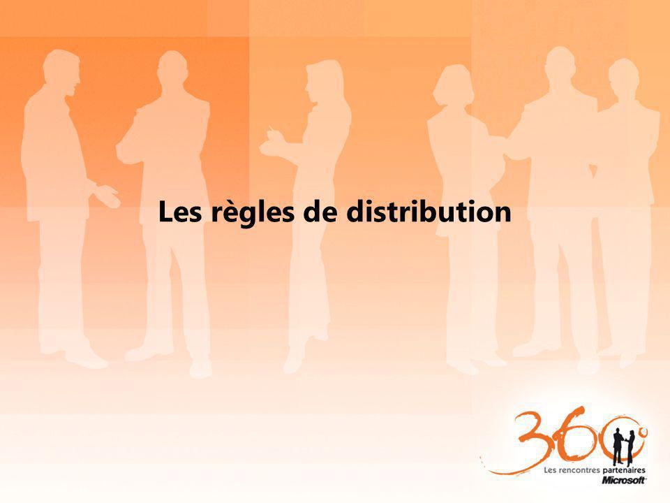 Les règles de distribution