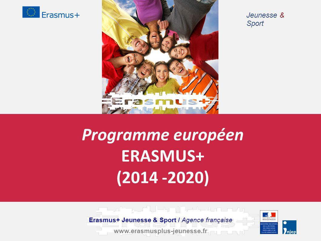 Programme européen ERASMUS+ (2014 -2020) Erasmus+ Jeunesse & Sport / Agence française www.erasmusplus-jeunesse.fr Jeunesse & Sport