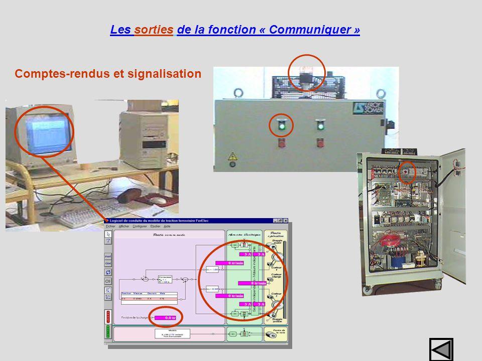 Comptes-rendus et signalisation Les sorties de la fonction « Communiquer »