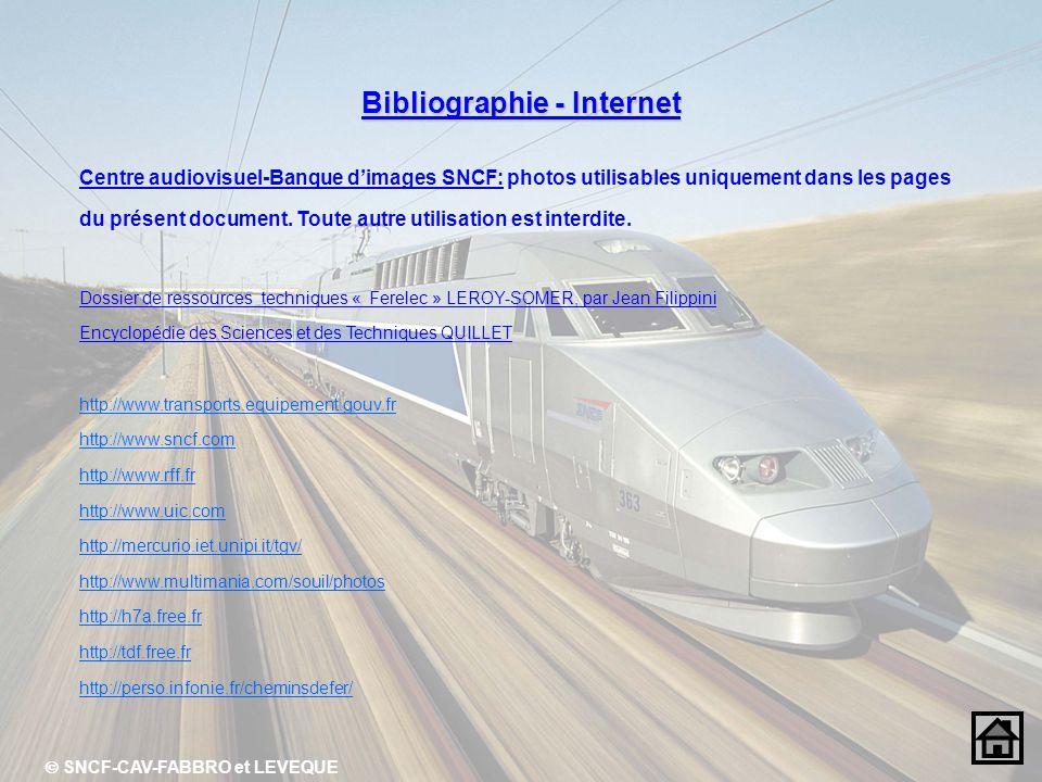 Bibliographie - Internet Centre audiovisuel-Banque dimages SNCF: photos utilisables uniquement dans les pages du présent document. Toute autre utilisa