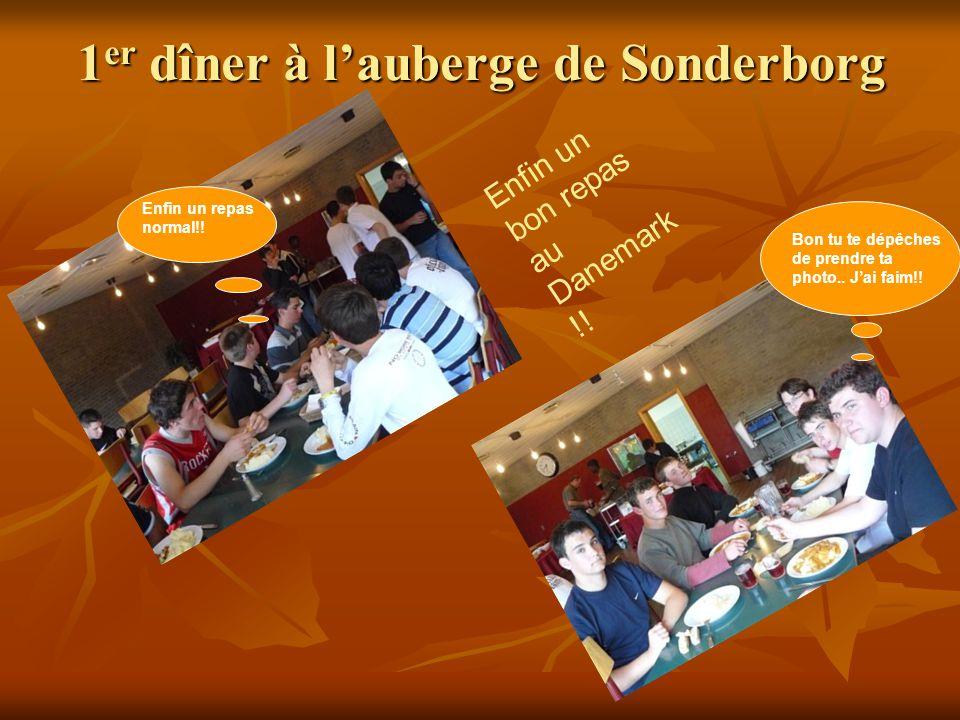 1er dîner à lauberge de Sonderborg E n f i n u n b o n r e p a s a u D a n e m a r k ! ! Enfin un repas normal!! Bon tu te dépêches de prendre ta phot
